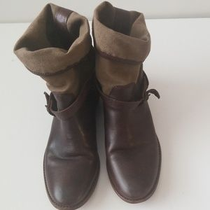 Frye Brown Melissa Short Shaft Leather boots 9